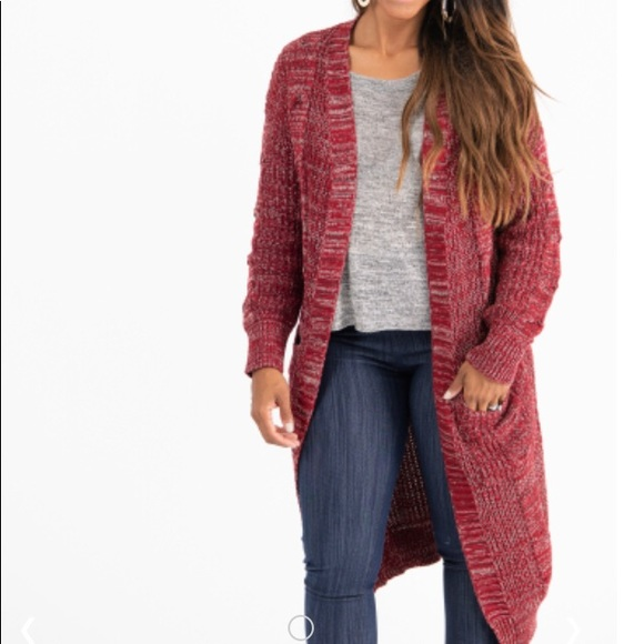 Agnes & Dora Sweaters - Brick Red Dreamy Duster by Agnes & Dora NWT